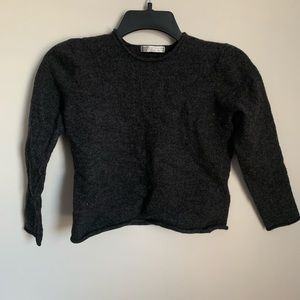 Sarah Spencer Sweaters - Grey Cropped Sweater